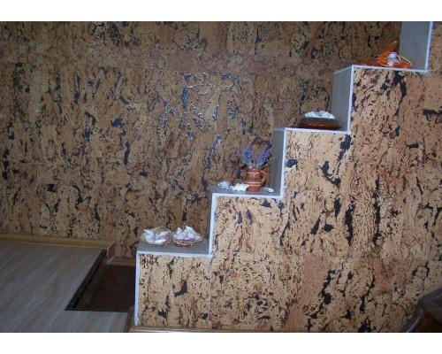 Пробковое настенное покрытие Ibercork Малага азул